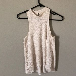 XS Hollister Lace High Neck Tank Top